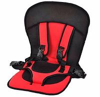 Безкаркасне дитяче автокрісло | крісло для дитини в машину | дитяче автомобільне крісло червоне