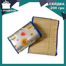 Пляжний килимок - сумка з бамбука 150*170 см | пляжна підстилка | килимок для пікніка | килимок для моря