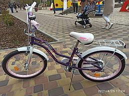 Детский велосипед 20 дюймов дополнительные колеса звоночек Corso