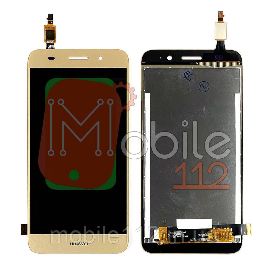 Екран (дисплей) Huawei Y3 2017 CRO-L02 CRO-L22 + тачскрін золотистий