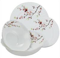 """Столовий набір """"Сакура"""" Maestro MR-30067-19S (19 предметів)   кухонні тарілки Маестро   набір тарілок Маестро"""