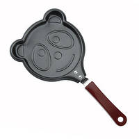 Мини сковорода блинная Benson BN-563 Мишка с антипригарным покрытием | сковородка для блинов, омлета Бенсон