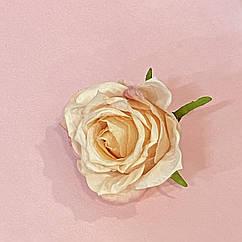 Головка розы персиковая 5 см