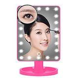Дзеркало для макіяжу з LED підсвічуванням Magic MakeUp Mirror прямокутне БІЛЕ, фото 7