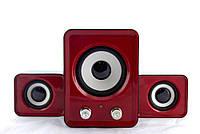 Компьютерные колонки акустика IS 12 220v Красные | акустические мощные колонки | музыкальная колонка