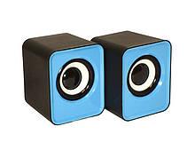Компьютерные колонки акустика IS 12 220v Голубые   акустические мощные колонки   музыкальная колонка