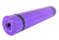 Классический многофункциональный коврик для йоги M 0380-3 Фиолетовый | йогамат | йога мат | коврик для фитнеса