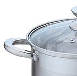 Кастрюля с крышкой из нержавеющей стали Maestro MR-3515-24 (4.5 л) | набор посуды Маэстро | кастрюли Маестро, фото 5