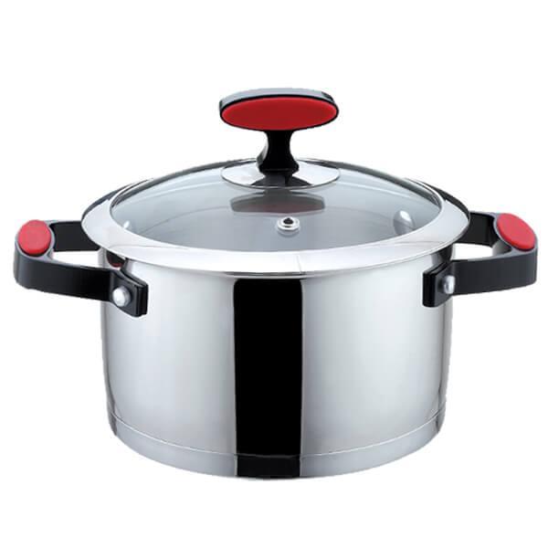 Каструля з кришкою з нержавіючої сталі Maestro MR-3514-16 1.5 л набір посуду Маестро каструлі Маестро