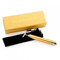 Іонний вібромасажер для особи Energy Beauty Bar REVOSKIN Gold | масажер для обличчя