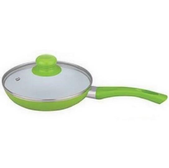 Сковорода антипригарна з кришкою Maestro MR-1201-28 зелена | сковорідка Маестро, сотейник Маестро