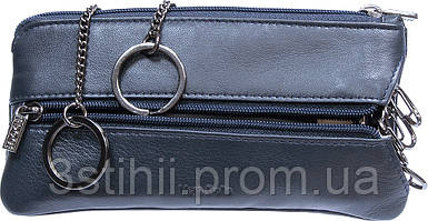 Ключница кожаная Tony Perotti Cortina 5021-CR navy Синяя