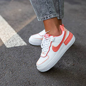 Женские кроссовки Nike Air Force Shadow White Coral