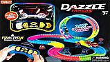 Дитячий іграшковий трек для машинок на пульті управління DAZZLE TRACKS 187 деталей | конструктор траса, фото 9
