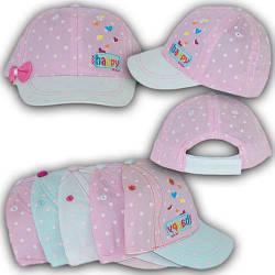 ОПТ Детская кепка на липучке для девочки, 48 р. (5шт/упаковка)