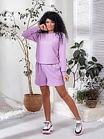 Модный спортивный костюм с шортами  030 В/05, фото 1