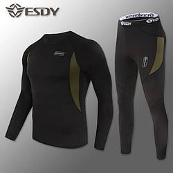 Термобілизна Чоловіча швидковисихаючий ESDY Black ( комплект термобілизни )