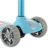 Самокат детский Micmax 08N бирюзовый до 60 кг   четырехколесный самокат Микмакс с фонариком и подсветкой колес, фото 4