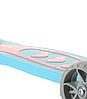 Самокат детский Micmax 08N бирюзовый до 60 кг   четырехколесный самокат Микмакс с фонариком и подсветкой колес, фото 5