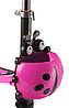 Беговел Scooter 18-1 от 1 года розовый | трехколесный самокат с корзинкой, сидением и родительской ручкой, фото 2