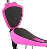 Беговел Scooter 18-1 от 1 года розовый | трехколесный самокат с корзинкой, сидением и родительской ручкой, фото 4