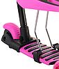 Беговел Scooter 18-1 от 1 года розовый | трехколесный самокат с корзинкой, сидением и родительской ручкой, фото 9