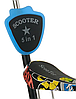 Беговел Scooter 18-2 від 1 року блакитний | триколісний самокат з кошиком, сидінням і батьківською ручкою, фото 2