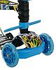 Беговел Scooter 18-2 від 1 року блакитний | триколісний самокат з кошиком, сидінням і батьківською ручкою, фото 4