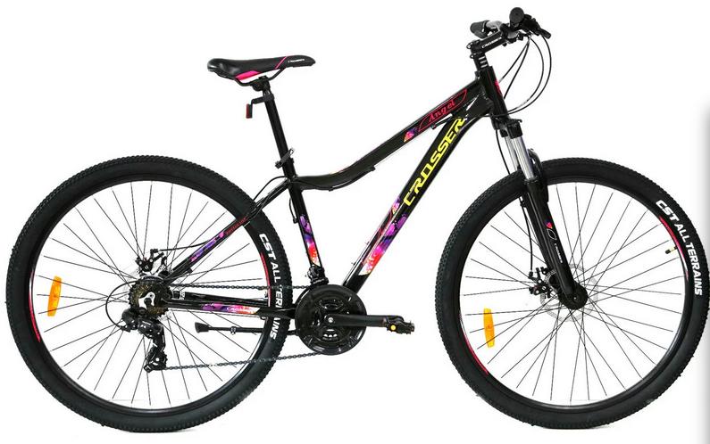"""Велосипед Crosser Angel 29"""" рама 16.5"""" черный   Горный женский велосипед Кроссер Энжел"""