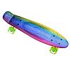 Пенні Борд - скейт Penny Board 26 Хамелеон зі світними колесами, двосторонній забарвлення   пенниборд, фото 2