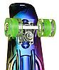 Пенні Борд - скейт Penny Board 26 Хамелеон зі світними колесами, двосторонній забарвлення   пенниборд, фото 3