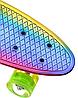 Пенні Борд - скейт Penny Board 26 Хамелеон зі світними колесами, двосторонній забарвлення   пенниборд, фото 4