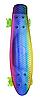 Пенні Борд - скейт Penny Board 26 Хамелеон зі світними колесами, двосторонній забарвлення   пенниборд, фото 6