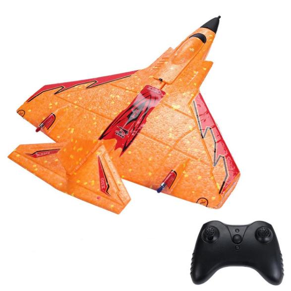Самолёт на радиоуправлении X-320 Mini оранжевый  радиоуправляемый самолет со светодиодной подсветкой пенопласт