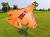 Самолёт на радиоуправлении X-320 Mini оранжевый  радиоуправляемый самолет со светодиодной подсветкой пенопласт, фото 10