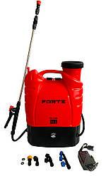 Обприскувач акумуляторний Forte CL-16A | електричний розпилювач рослин з автоматичною помпою Форте