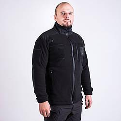 Кофта флісова чорна, тактична, для поліції