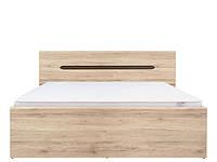 Кровать LOZ/160 Elpasso 160х200 BRW дуб san remo светлый/венге коричневый