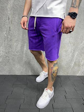 Чоловічі трикотажні шорти фіолетового кольору, фото 2
