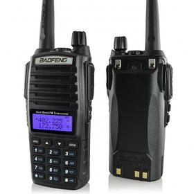 Беспроводная рация Baofeng BF-UV82 c дисплеем, FM- радио, корпус пластмасса, частота 400-470MHz, черная, BOX