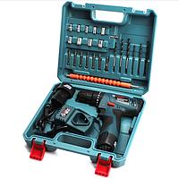 Шуруповерт Bosch TSR12-2LI 12V 3Ah ударный + набор инструментов | Электродрель-шуруповерт Бош аккумуляторный