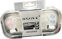 EXTRA BASS SONY - вакуумные наушники / коробка