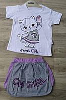 Детский летний костюм 0-9 мес для девочек Турция оптом