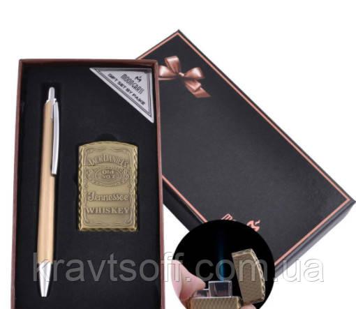 Подарунковий набір ручка, запальничка (Гостре полум'я) №BX-002A