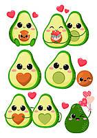 Вафельна картинка Авокадо