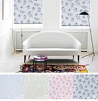Ролеты тканевые (рулонные шторы) Орхидея открытый короб