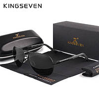 Оригинальные мужские поляризационные очки KINGSEVEN K725 Black