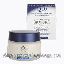 Ночной крем Биокура против морщин Biocura  Q10 Anti-Falten Nachtcreme 50 мл