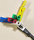 6 шт. Cleqee P2009 тест затискач Крокодил з роз'ємом під щуп 2мм 300 В/10 А Для мультиметрів і інших приб-ів, фото 7