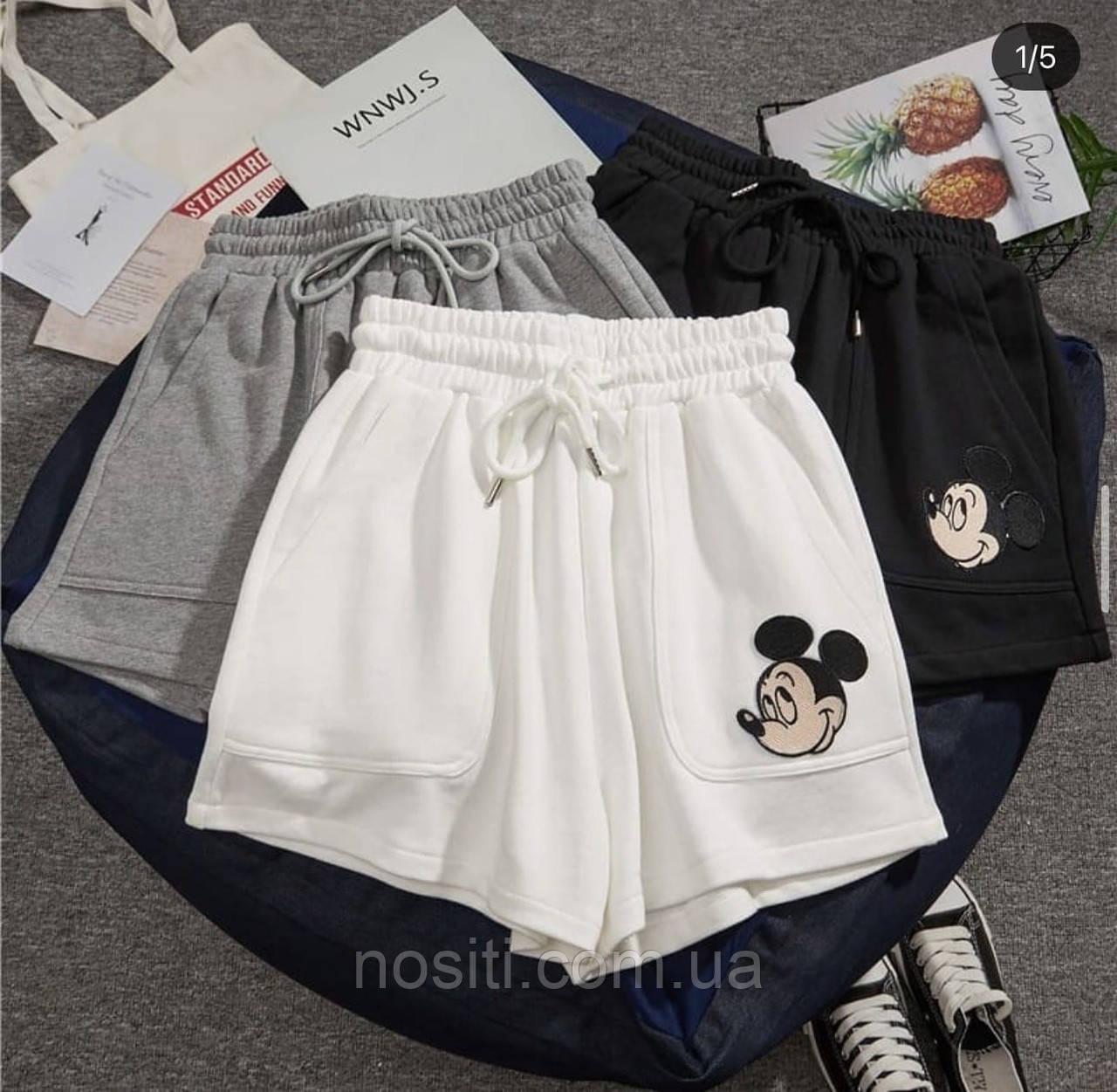 Шорты с принтом Микки Мауса с карманами свободные